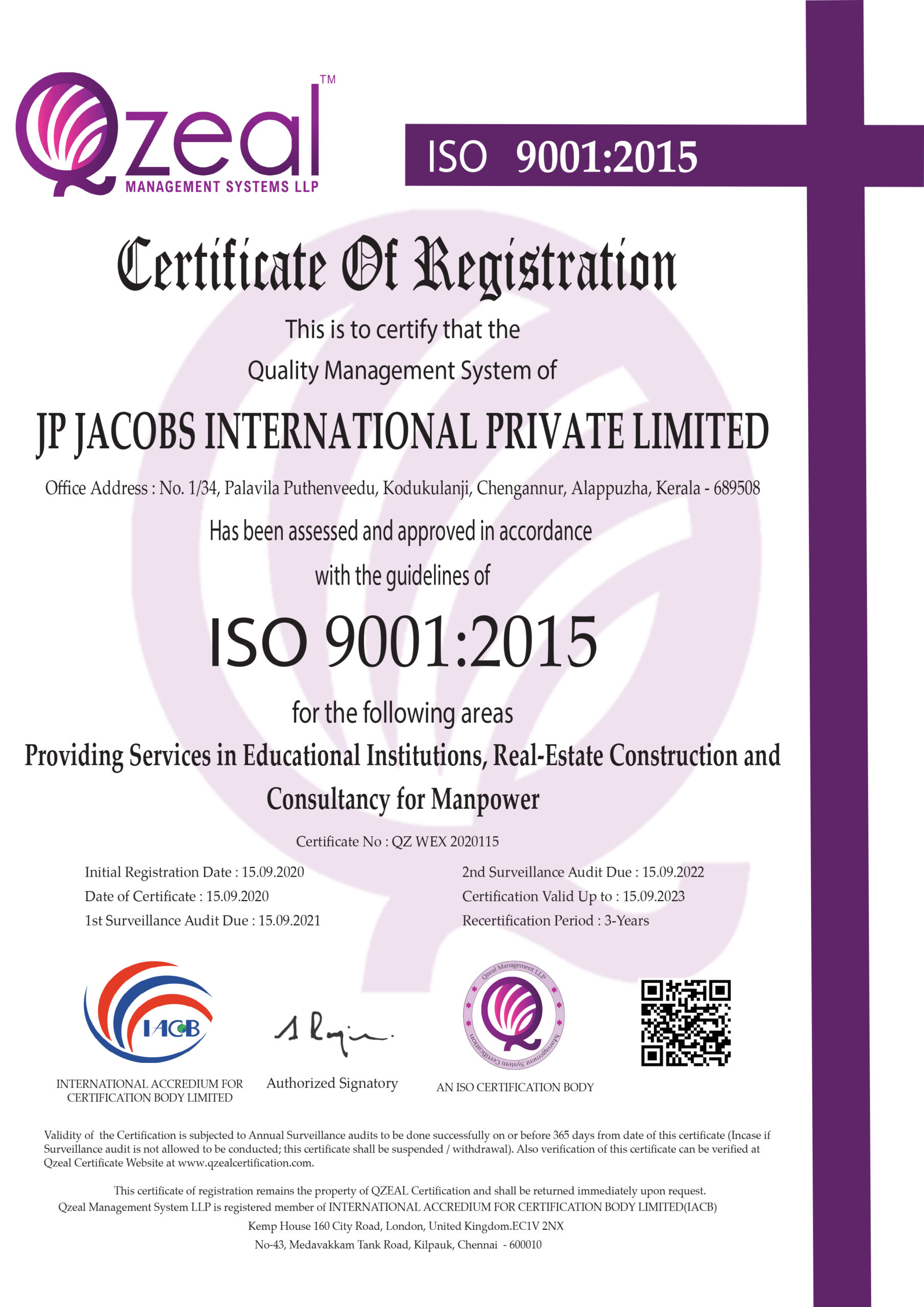 ISO Certified scaled
