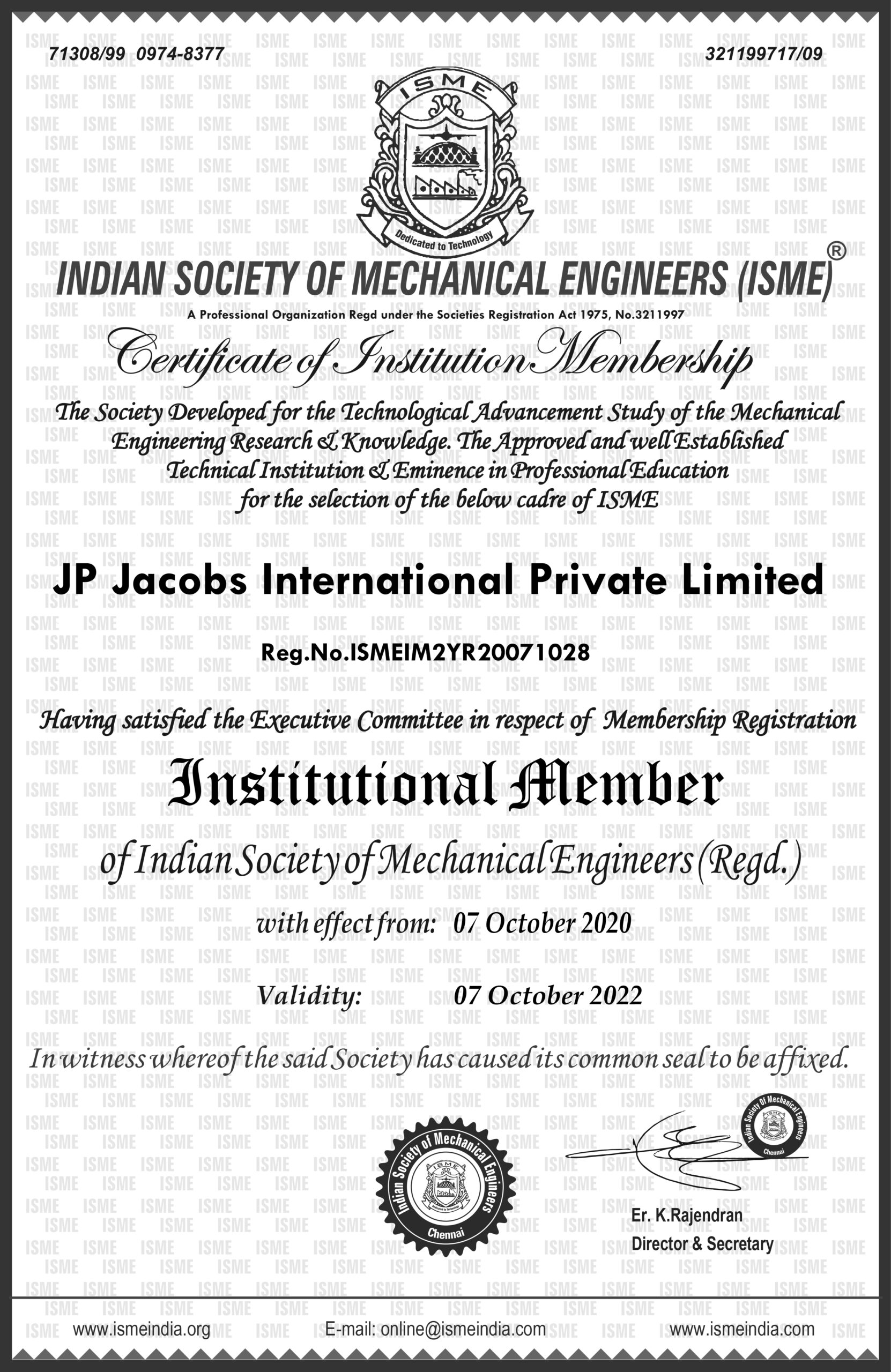 JP Jacobs International Private Limited ISME 2Yr scaled